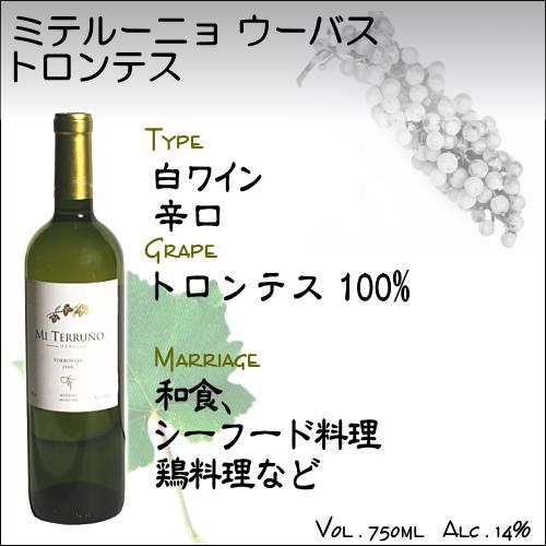 【白ワイン アルゼンチン】トロンテス ミ テルーニョ−ウーバス